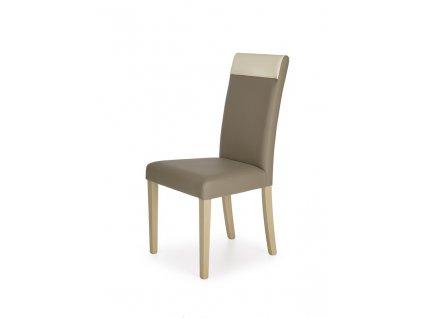 NORBERT židle dub sonoma / polstrování: béžové
