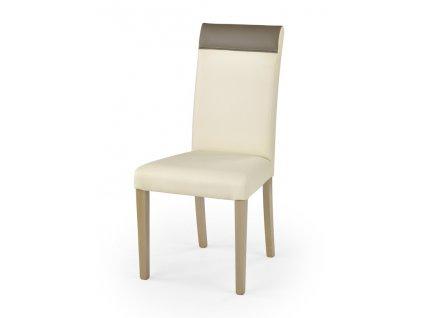 NORBERT židle dub sonoma / polstrování: krémové