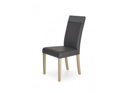 NORBERT židle dub sonoma / polstrování: šedé