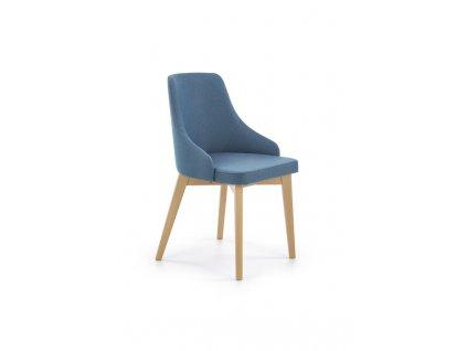 TOLEDO židle dub velbloudí / polstrování: inari 87 (tyrkysová)