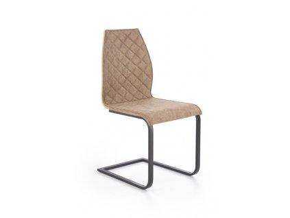 K265 židle černá / hnědá / dub velbloudí