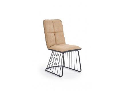 K269 židle světle hnědá / černá