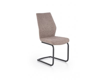 K272 židle tmavě bežová DALLAS / černá