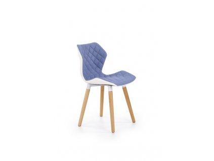 K277 židle bílo / modrá