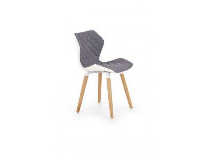 K277 židle bílo / šedá