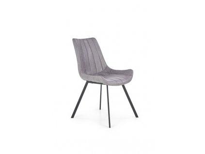 K279 židle šedá / černá