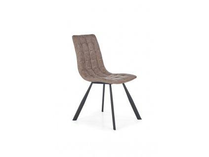 K280 židle hnědá / černá