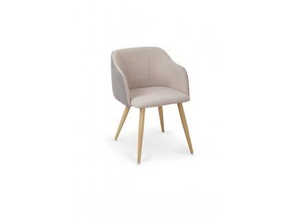 K288 židle světle šedá / béžová