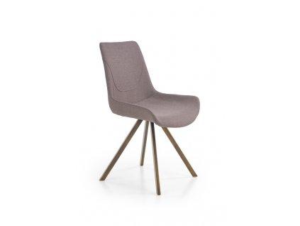 K290 židle šedá / anticky zlatá