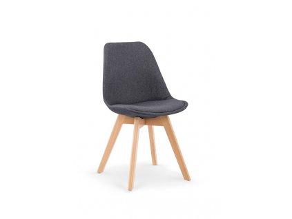 K303 židle tmavě šedá / buk