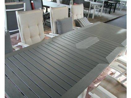 Stůl roztahovací 194-252 DURTAL: stříbrná imitace