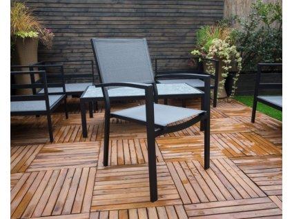Černá hliníková židle TOULOUSE