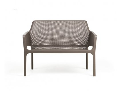 Tmavošedá lavice Net