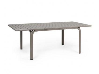 Rozkládací stůl 140-210 ALLORO: tmavošedý rám, tmavošedá deska