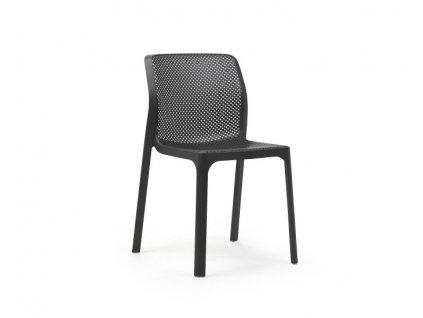 Židle NARDI BIT: antracitový polypropylén