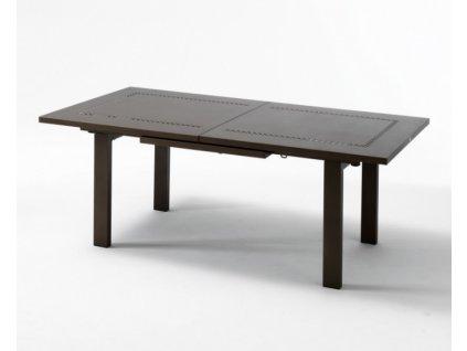 Roztahovací kovový stůl HELIOS XL: rd antracitový