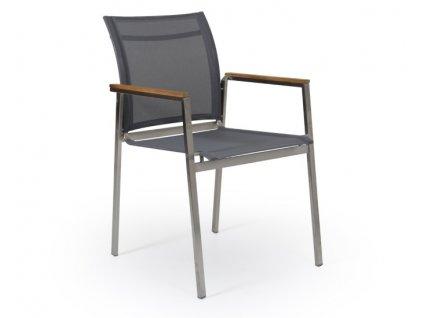 Zahradní židle z nerezové oceli BERLÍN