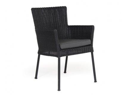 Židle z umělého ratanu CLUNY: černá
