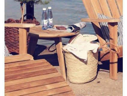 Kulatý stoleček Teak 60 cm Kastos