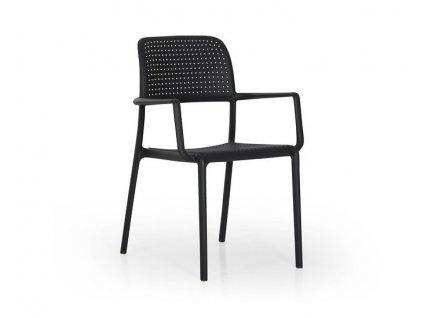 Polypropylenové židle Nardi Bora: antracitový polypropylén
