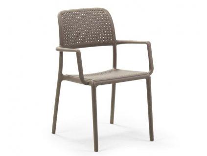 Polypropylenové židle NARDI BORA: tmavošedý polypropylén