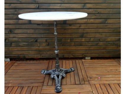 Kulatý stolek mramor