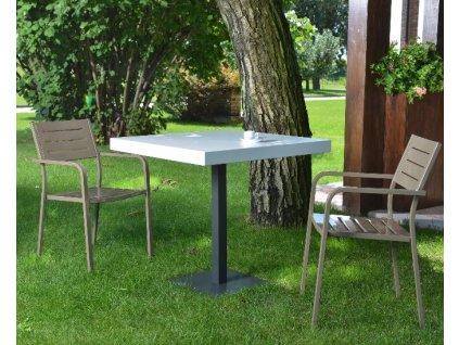 Kovové židle s područkami DORIO: rd sobolová