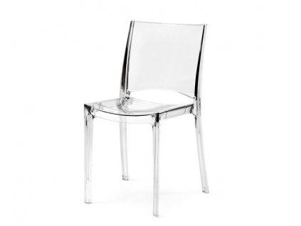 Průhledná polykarbonátové židle