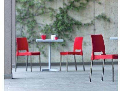 Židle Joi 870 v barvě červené