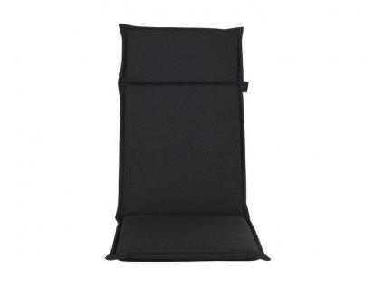 Polštář na židle s opěradlem 121x47 cm černá