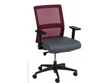Kancelářské křeslo PRESS červené/šedé