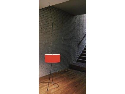 Lampa Totora červené stínidlo, průměr 45 cm