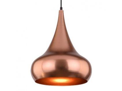 Lampa závěsná Mid-century Glam 4 měděná