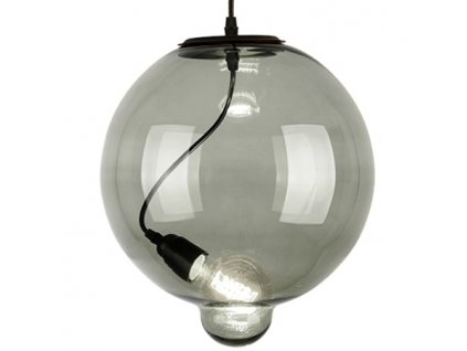 Lampa závěsná Modern Glass Bubble kouřová