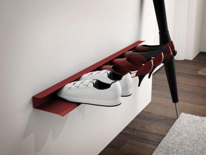 Police na boty BOOT červená