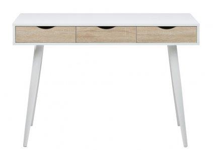 Psací stůl Neptun bílý/přírodní
