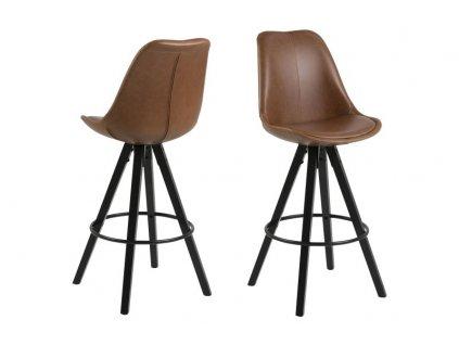 Židle barová Dima Brandy koženka