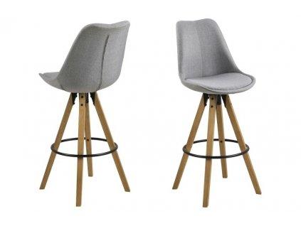 Židle barová DIMA melange tmavě šedý