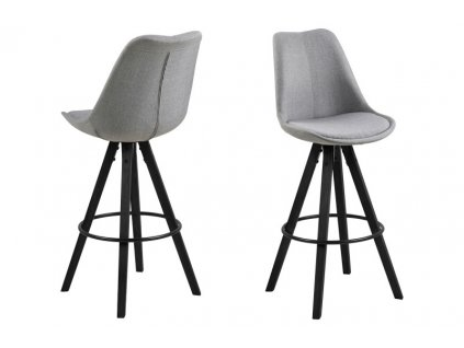 Židle barová DIMA melange šedý/černý
