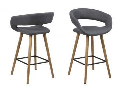 Židle barová GRACE low tmavě šedý
