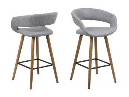 Židle barová Grace low světle šedý