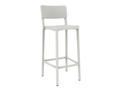 Židle barová LISBOA 75cm bílý
