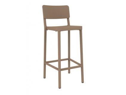 Židle barová Lisboa 75cm pískový