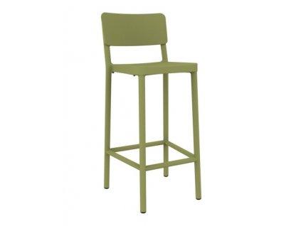 Židle barová LISBOA 75cm zelený