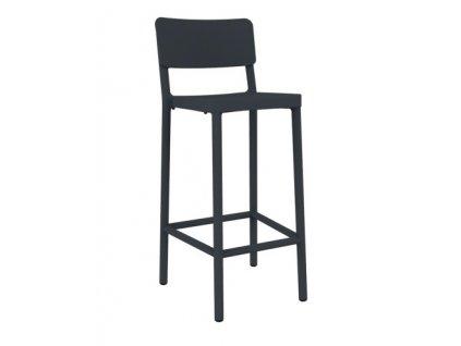Židle barová Lisboa 75cm tmavě šedý