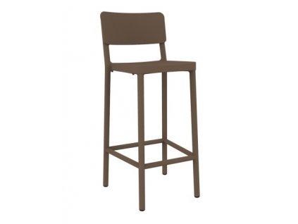 Židle barová LISBOA 75cm čokoládový