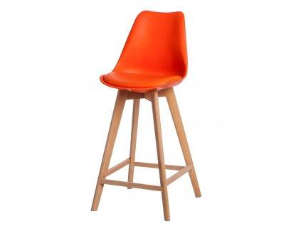 Židle barová Norden Wood vysoký PP oranžový