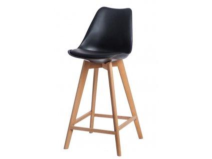 Židle barová NORDEN WOOD vysoký pp černý