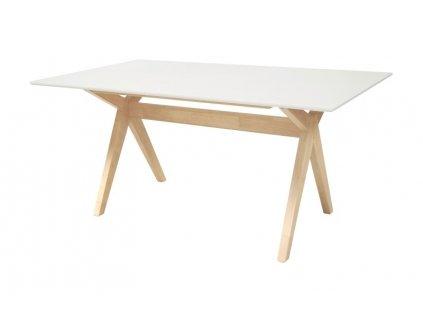 Stůl SCISSOR bílý/natural