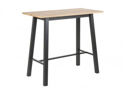 Stůl barový CHARA wood/black kov